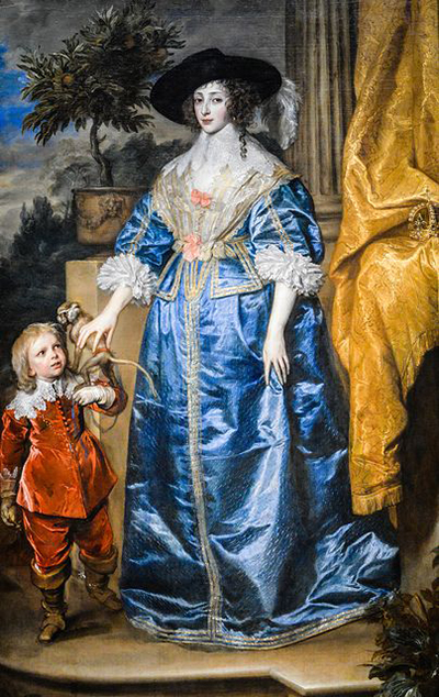 Queen Henrietta Maria with Sir Jeffrey Hudson Anthony van Dyck